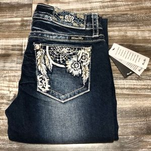 NWT Miss Me Dreamcatcher Embroidered bootcut jeans